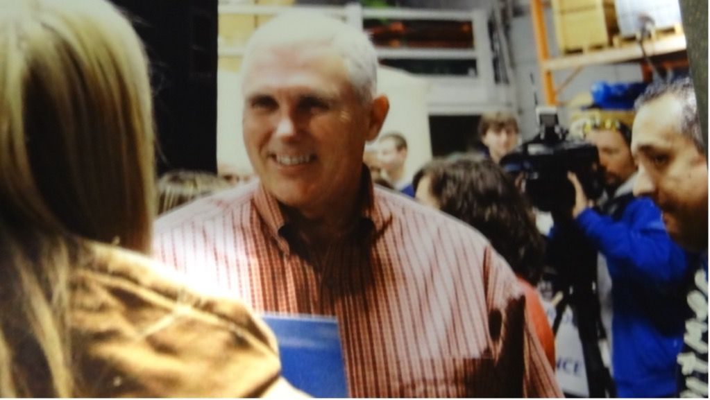 Mike Pence and Fred Witmer at Triton Energy rally. Photo courtesy Dave Larson