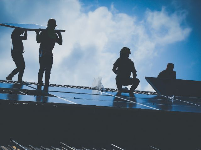 Solar energy workers