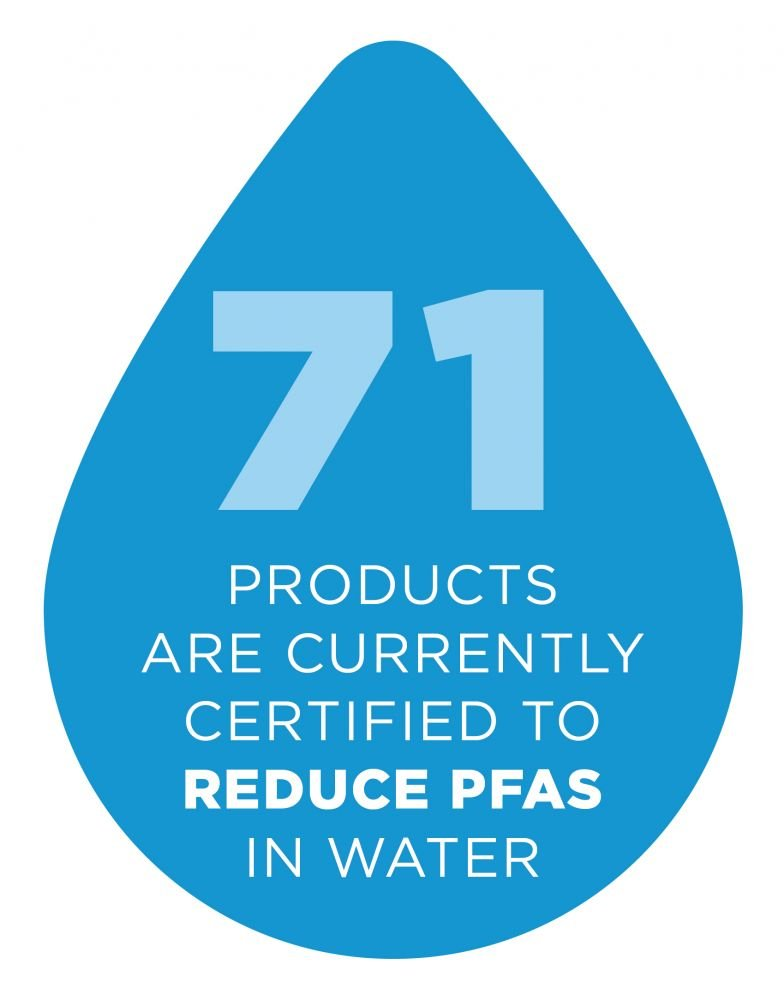 71 products are currently certified to reduce PFAS in water