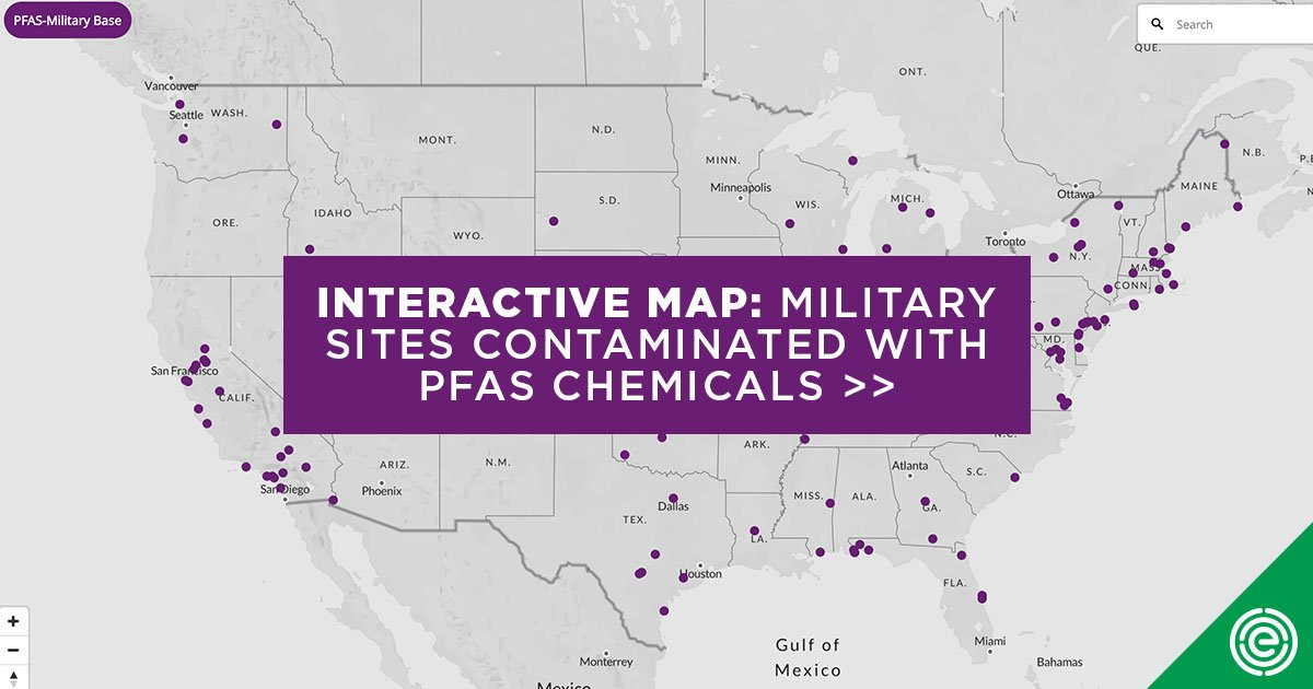 Mapping PFAS Chemical Contamination at 106 U.S. Military Sites | EWG