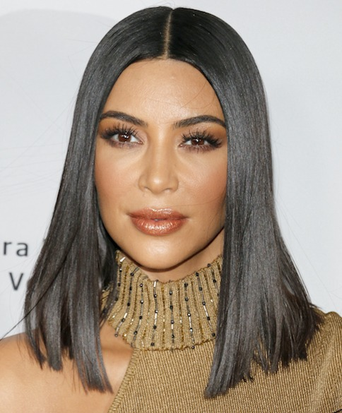 Kim Kardashian Spotted in a Completely See-Through Dress