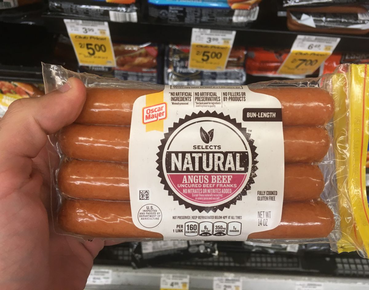 Photo of natural hot dogs